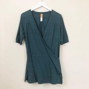 Lucy Activewear Short Sleeve T-shirt Blue-Green S